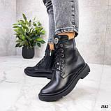 Женские ботинки ДЕМИ черные натуральная кожа весна - осень, фото 6