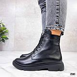 Женские ботинки ДЕМИ черные натуральная кожа весна - осень, фото 7