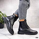 Женские ботинки ДЕМИ черные натуральная кожа весна - осень, фото 9