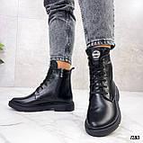 Женские ботинки ДЕМИ черные натуральная кожа весна - осень, фото 8