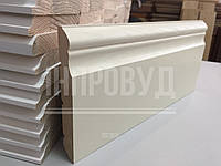 """""""Класик"""" 120х20 мм, Високий білий дерев'яний плінтус Вільха, фото 1"""