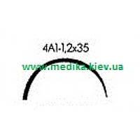 4А1 1,2 х 35 Игла хирургическая изогнутая 4/8 окружности .