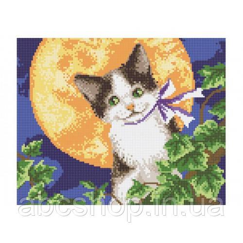 """""""Місячний кіт"""" - Схема для вишивки бісером"""