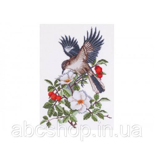 """""""Птах в шипшині"""" - Набір для вишивання хрестиком"""