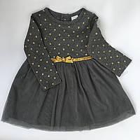 Платье серое в горошек Carter's