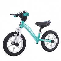 """Двухколесный детский беговел с надувными колесами ВALANCE TILLY 12"""" Jet T-212523 Azure, бирюзовый"""
