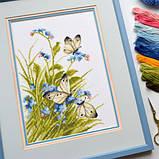 """""""Метелики в квітах"""" - Набір для вишивання хрестиком, фото 2"""