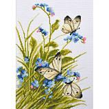 """""""Метелики в квітах"""" - Набір для вишивання хрестиком, фото 3"""