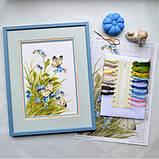 """""""Метелики в квітах"""" - Набір для вишивання хрестиком, фото 4"""