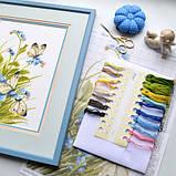 """""""Метелики в квітах"""" - Набір для вишивання хрестиком, фото 5"""