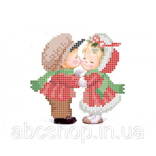 """""""Новорічний цілунок"""" - Схема для вишивки бісером"""