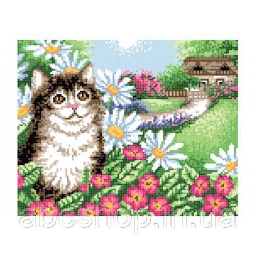 """""""Кіт у квітах"""" - Схема для вишивки бісером"""