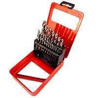 Набір свердел по металу, 1-10 мм (через 0,5 мм), HSS, 19 шт., метал. коробка цил. хвостовик MTX 723889