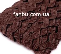 Темно коричневая тесьма вьюнок (ширина 5-6мм)