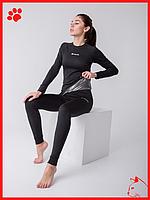 Термобелье женское спортивное черного цвета для бега Columbia Omni Heat комплект + термо носки в Подарок