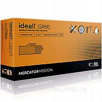Прочные перчатки нитриловые ideall GRIP black 50 шт., размер XXL
