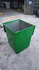 Бак металевий з кришкою V-750 л, червоний, фото 2