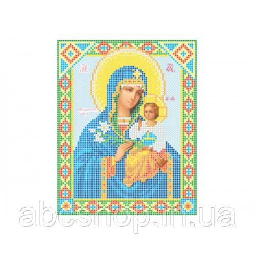 """""""Божа матір Нев'янучий цвіт"""" - Схема для вишивки бісером ікони"""