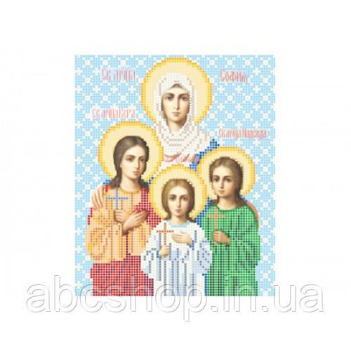 """""""Свята мучениця Віра, Надія, Любов та мати їх Софія"""" - Схема для вишивки бісером ікони"""