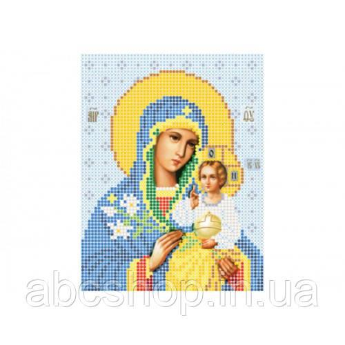 """""""Божа матір Нев`янучий цвіт А5"""" - Схема для вишивки бісером ікони"""