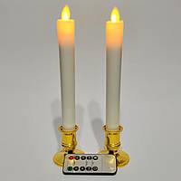 Світлодіодні свічки з імітацією полум'я тонкі Dancing Flame 210 набір