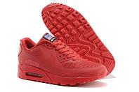 Кроссовки женские  Nike Air Max 90 Hyperfuse (в стиле найк аир макс) красные