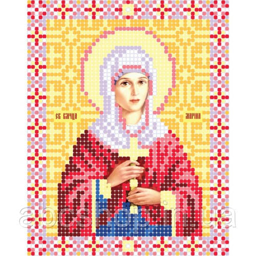 """Свята Великомученица Марина"" - Схема для вишивки бісером ікони"