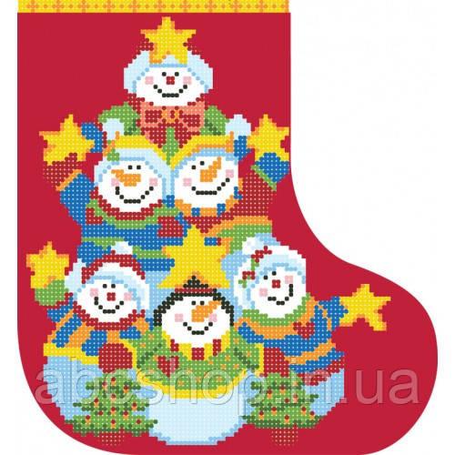 """""""Новорічний чобіток 4"""" - Схема для вишивки бісером"""