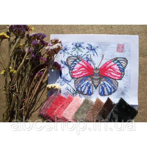 """""""Червоно-синій метелик"""" - Схема для вишивки бісером"""