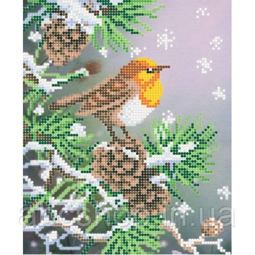 """""""Жовтогарячий птах"""" - Схема для вишивки бісером"""