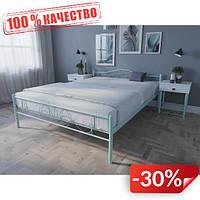 Кровать MELBI Лара Люкс Двуспальная 140х190 см Бирюзовый