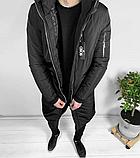 Мужская Куртка, Парка до -25 С Длинная парка мужская чоловіча куртка парка стильная зимняя куртка, фото 4