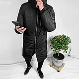 Мужская Куртка, Парка до -25 С Длинная парка мужская чоловіча куртка парка стильная зимняя куртка, фото 5