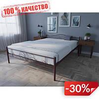 Кровать MELBI Лара Люкс Двуспальная 180х190 см Бордовый лак