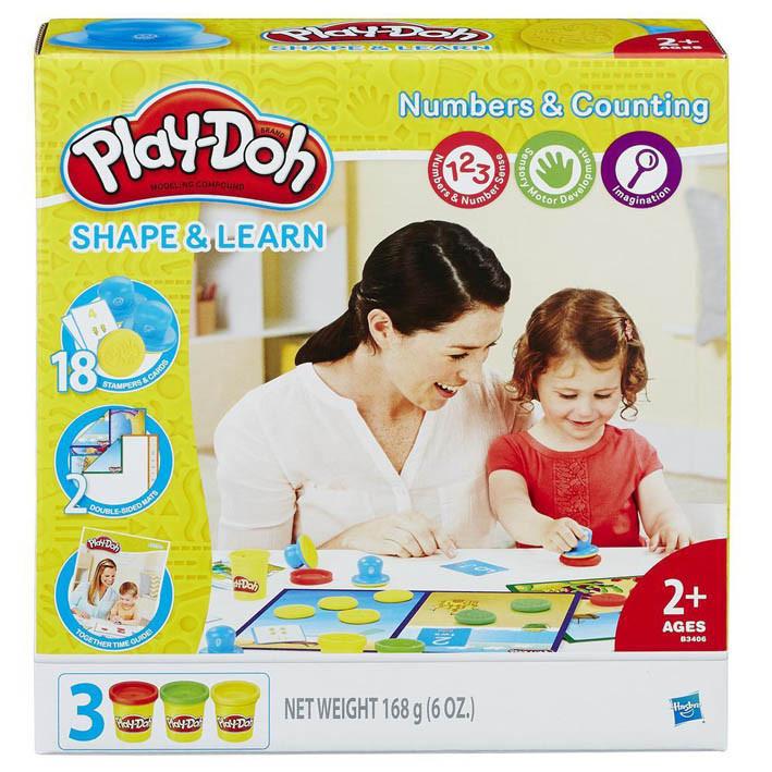 """Набор пластилина """"Учимся считать"""" 168 гр., Play-Doh, 3 цвета (B3406)"""
