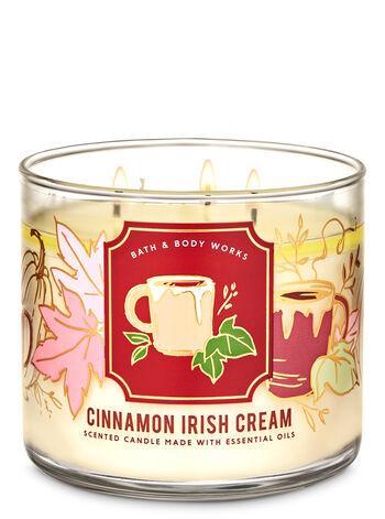 Трехфитильная свеча Bath and Body Works Cinnamon Irish Cream
