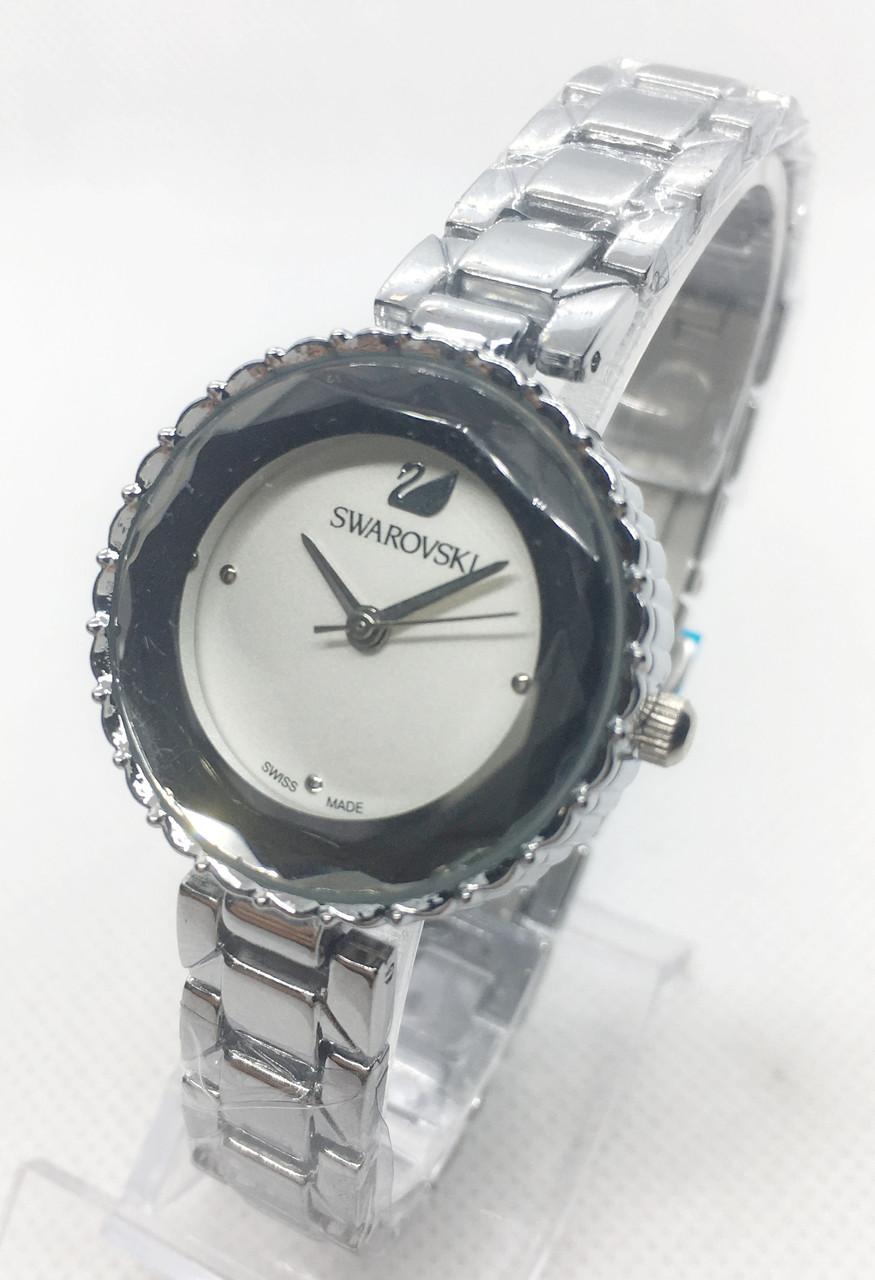 Женские наручные часы Swarovski (Сваровски), серебро с белым циферблатом ( код: IBW568SO )