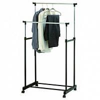 Напольная телескопическая вешалка-стойка для одежды 62*37*130см Stenson (R29746)