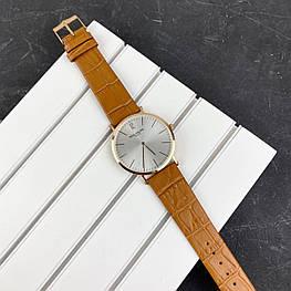 Мужские наручные часы Patek Philippe Calatrava Brown-Gold-White