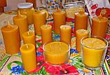 Цилиндрическая восковая свеча D60-95мм из натурального пчелиного воска, фото 5