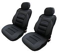 Чехлы-накидки на передние сиденья универсальные черный в точку