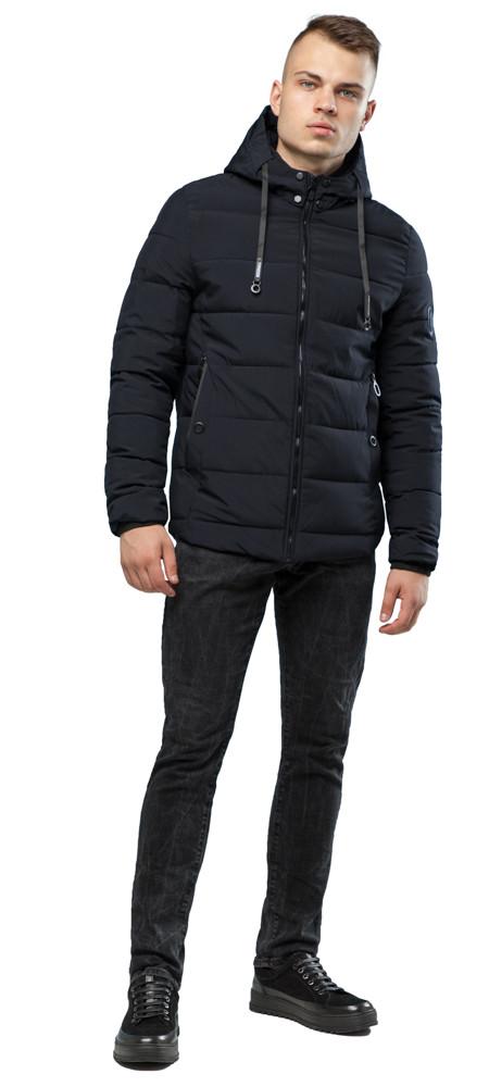 Мужская теплая куртка черная на зиму модель 6009