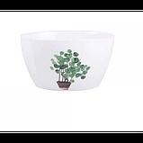 Тарелки керамические для супа, супницы с рисунками растений, 6 видов, фото 7