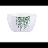 Тарелки керамические для супа, супницы с рисунками растений, 6 видов, фото 8