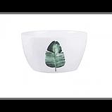Тарелки керамические для супа, супницы с рисунками растений, 6 видов, фото 10