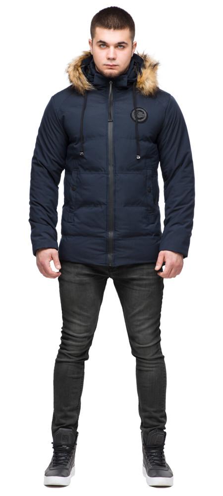 Синя коротка куртка зимова молодіжна для чоловіків модель 25550 розмір 48 (M)