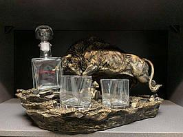 "Штоф со стаканами для виски ""Бык"". Подарок мужчине"