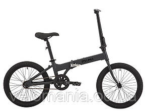 """Велосипед 20"""" Pride MINI 1 темно-серый/черный 2018"""