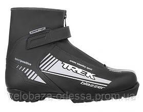 Ботинки лыжные TREK Blazzer Control NNN ИК размер 43, черный, лого серый