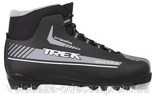 Ботинки лыжные TREK Sportiks NNN ИК размер 43, серебристый, лого синий